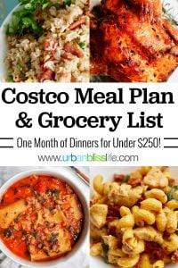 Costco Meal Plan and Grocery List