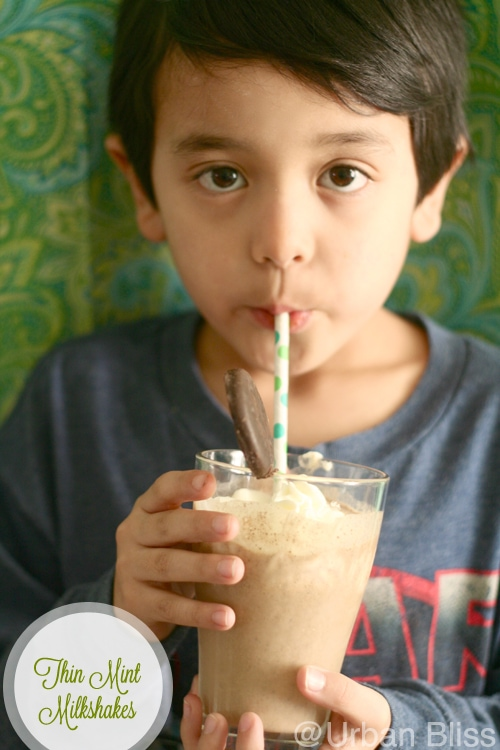 Girl Scout Cookies Thin Mint Milkshake Recipe