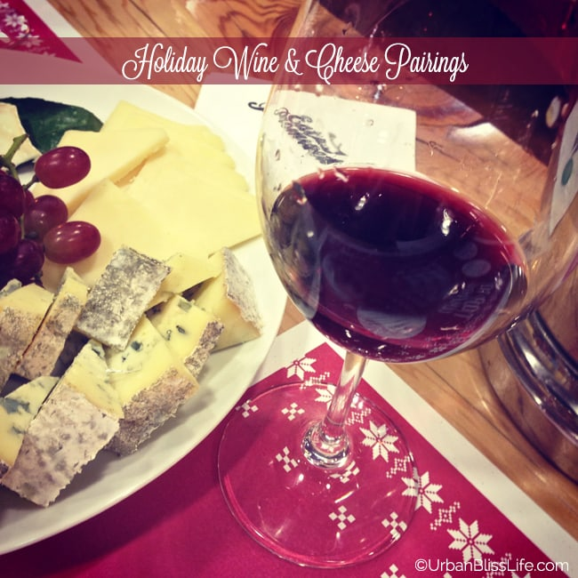 Holiday Wine and Cheese Pairing - red wine