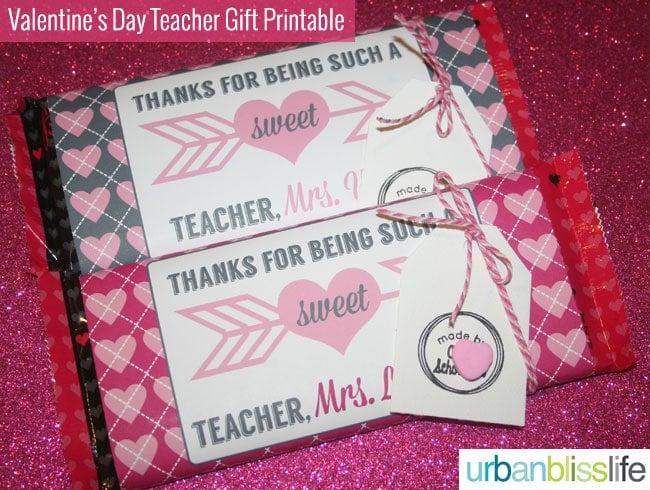 Valentines Day Teacher Gift Candy Bar Printable Set