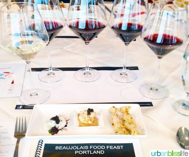 Beaujolais Food Feast Portland Oregon Wine Lobster Appetizers
