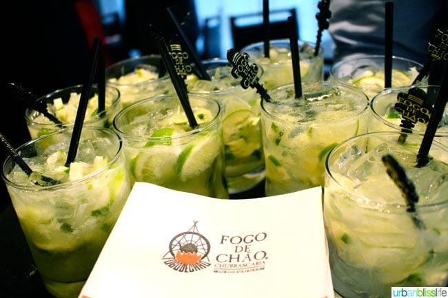 Caipirinhas at Fogo de Chao restaurant in Portland, Oregon
