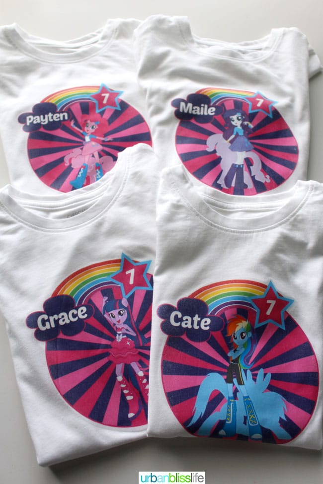 My Little Pony Equestria Girls Birthday Party custom t-shirts