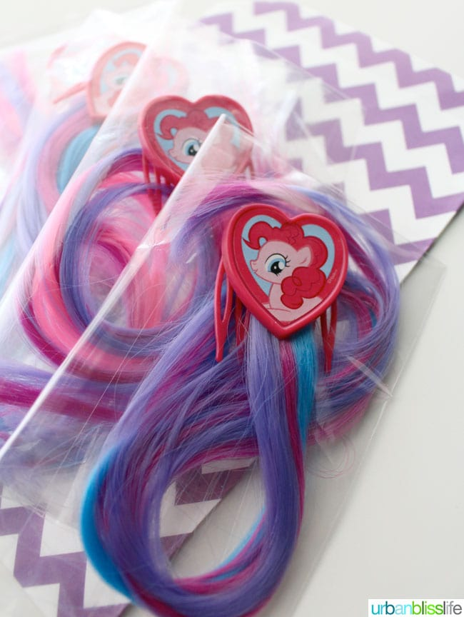 My Little Pony hair extensions