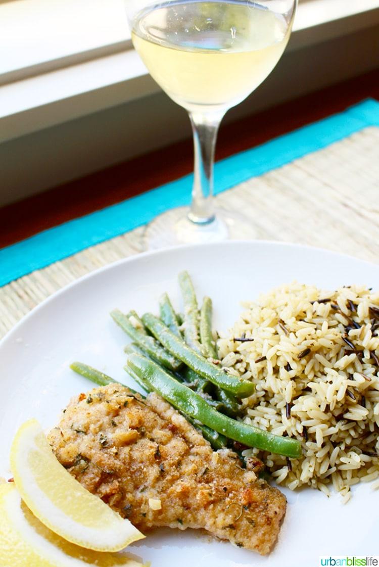 pan-fried cod with lemon & white wine