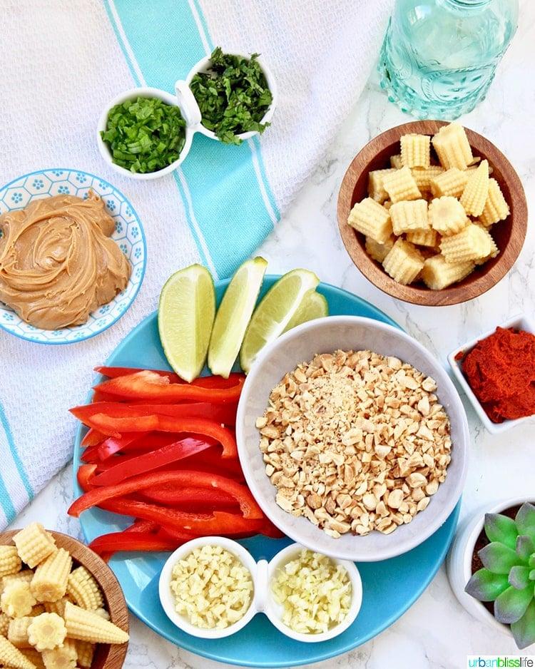 ingredients of thai peanut curry recipe