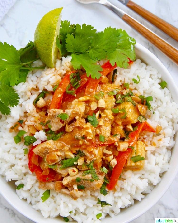 Thai Peanut Curry asian dinner