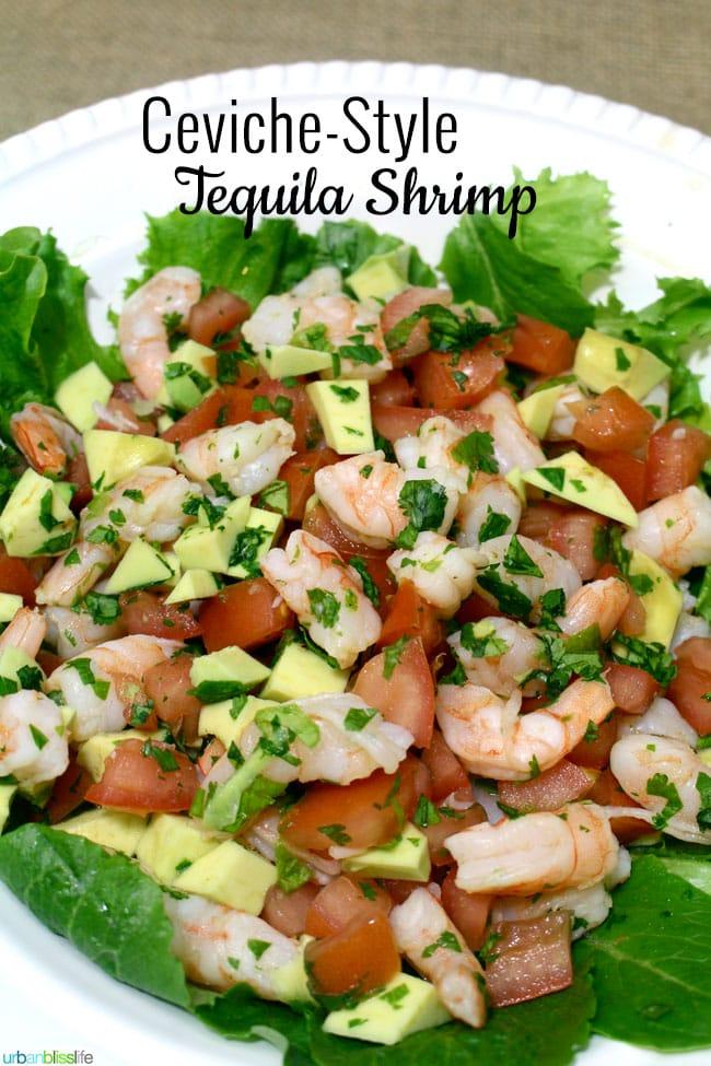 Ceviche Style Tequila Lime Shrimp - UrbanBlissLife.com