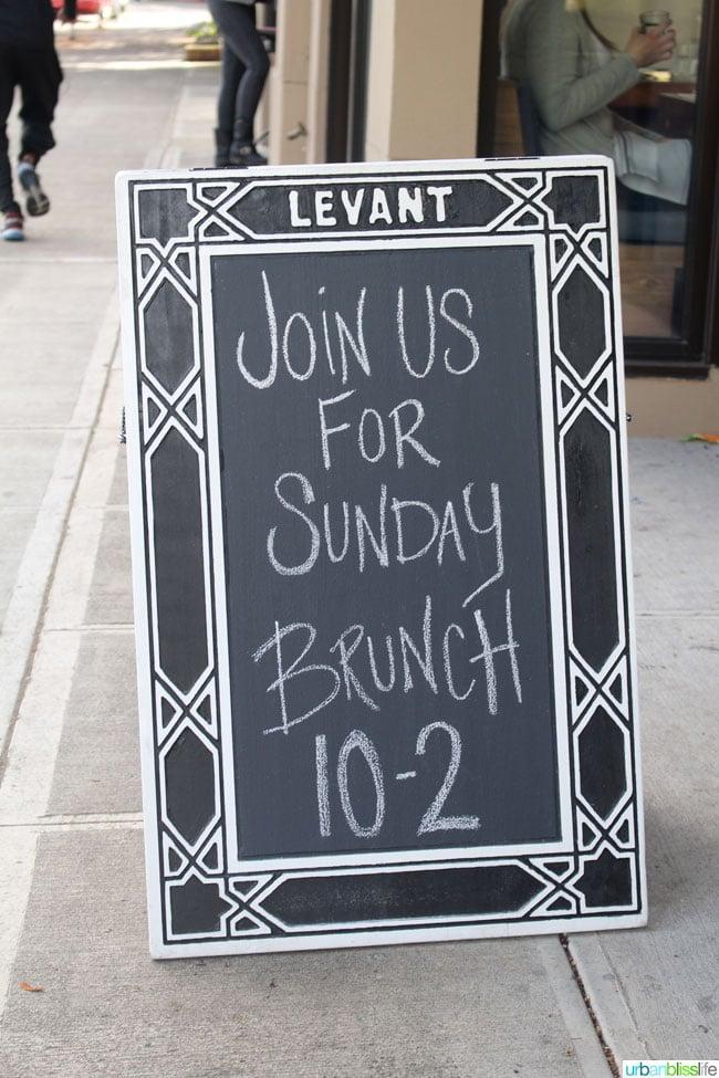 Levant restaurant sign