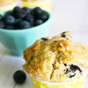 lemon blueberry muffins that are dairy-free