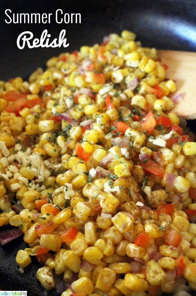 Corn Relish Recipe on UrbanBlissLife.com