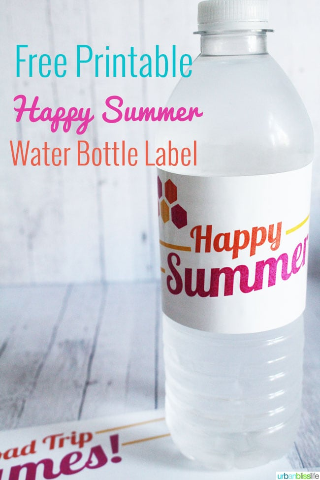 water bottle with printable label