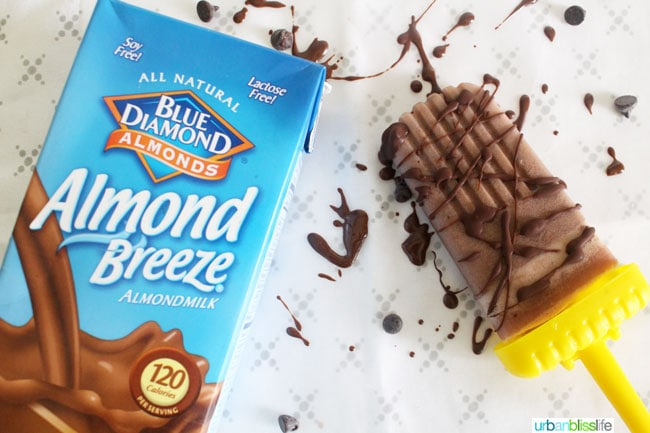 almond breeze almond milk and chocolate popsicle