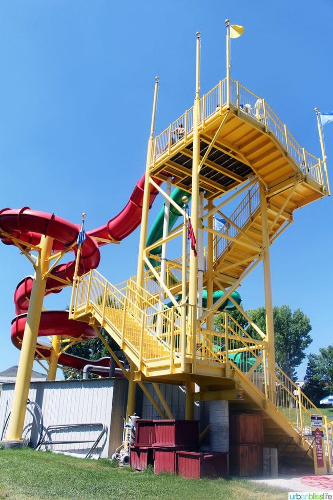 Lava Hot Springs waterpark slide