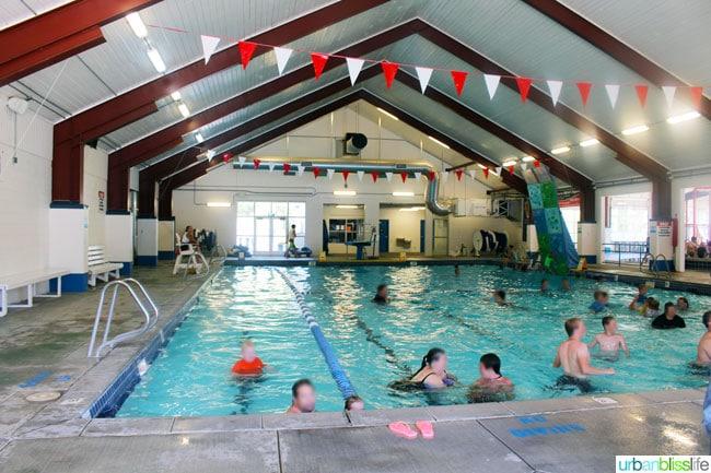 Lava Hot Springs waterpark indoor pool