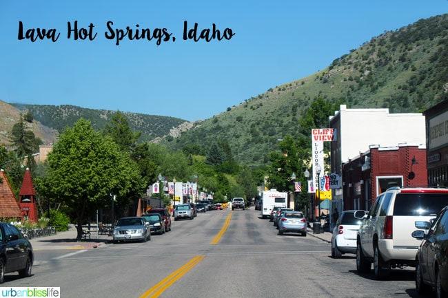 Lava Hot Springs, Idaho main street