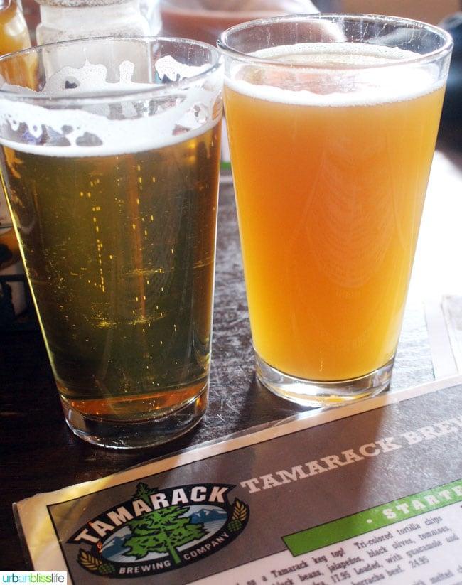 beers at Tamarack Brewing in Missoula