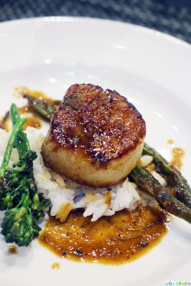 scallops at Blue Canyon restaurant in Missoula