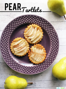 Pear Tartlets on a plate