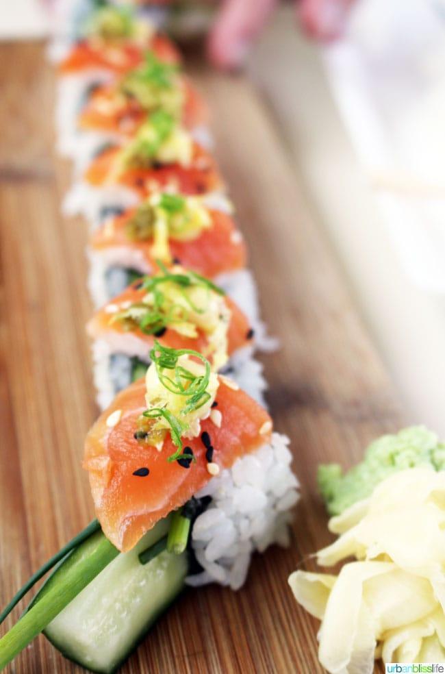 Departure Restaurant Portland salmon rolls