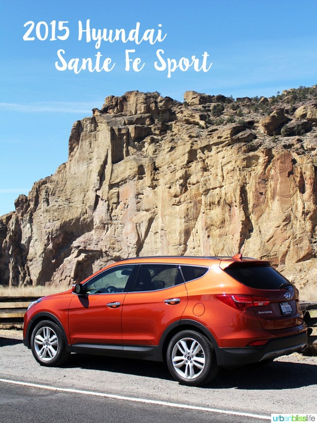 2015 Hyundai Sante Fe Sport car review on UrbanBlissLife.com