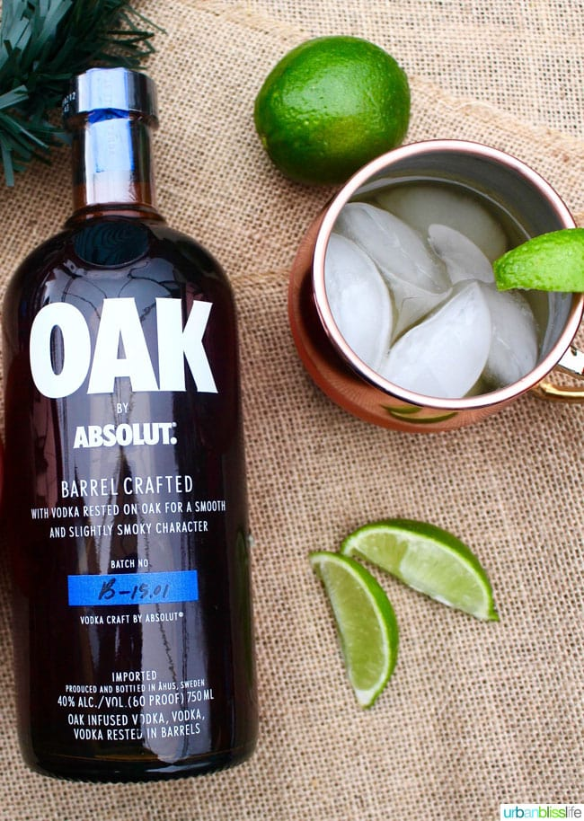 Classic Moscow Mule with Oak Absolut