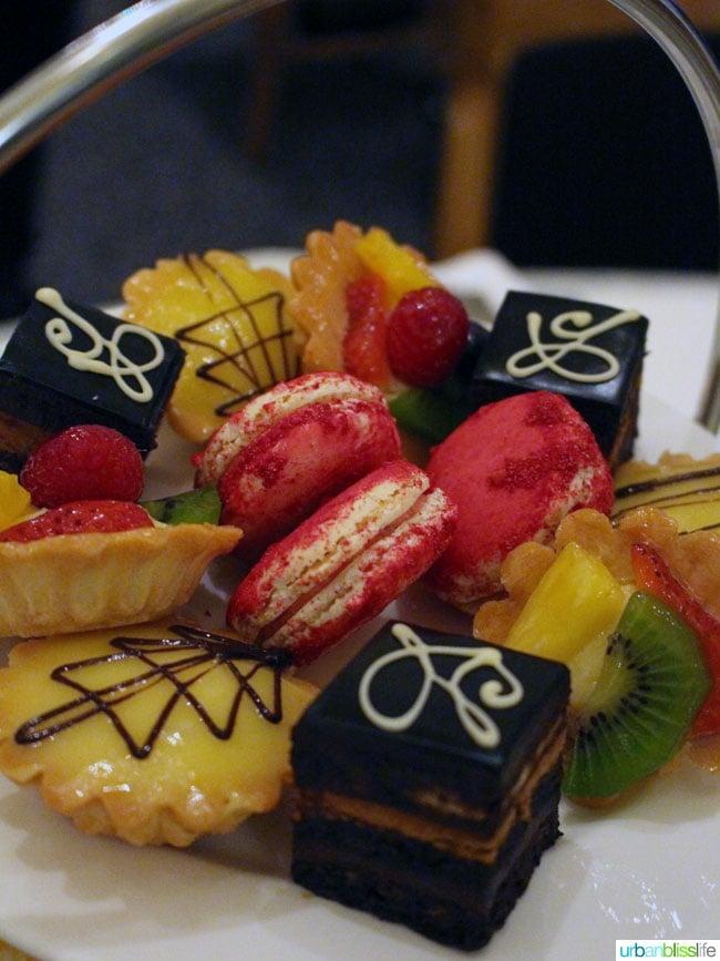 Hotel deLuxe Tea desserts