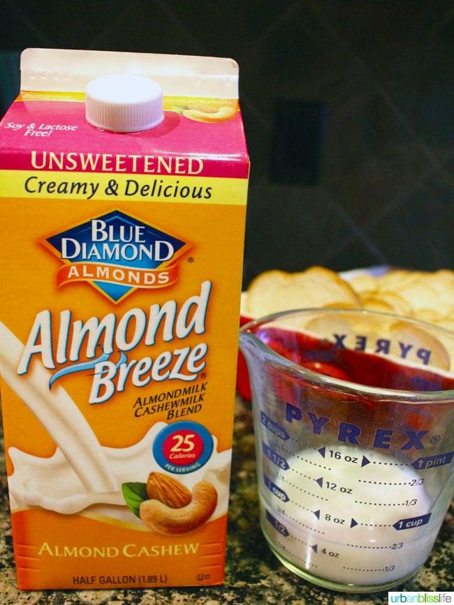 almondmilk for make ahead french toast