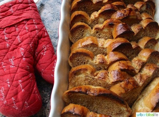 Overnight Oven French Toast recipe on UrbanBlissLife.com