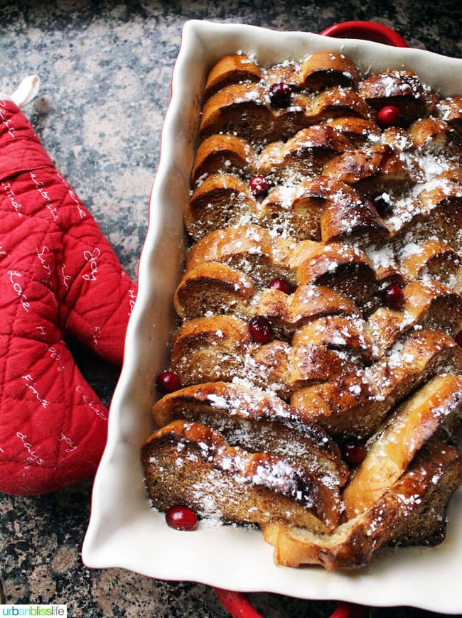 French Toast in bakeware