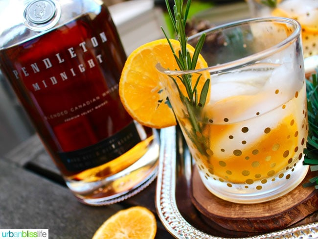 Rosemary Citrus Old Fashioned cocktail recipe on UrbanBlissLife.com