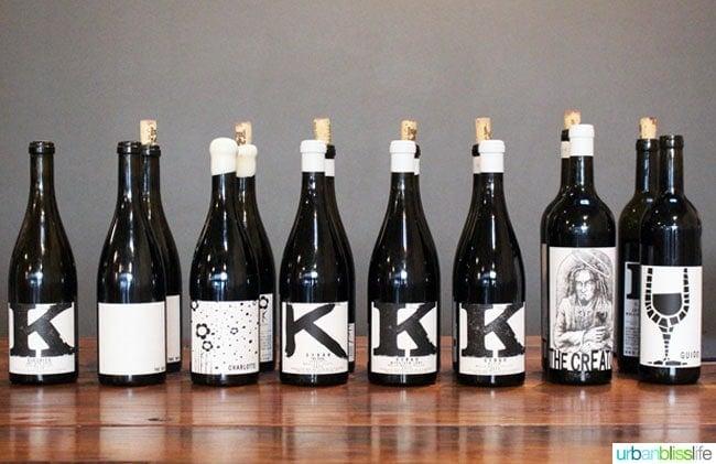 K Vintners wine bottles