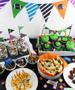 Football Game Day recipes and decorating ideas on UrbanBlissLife.com
