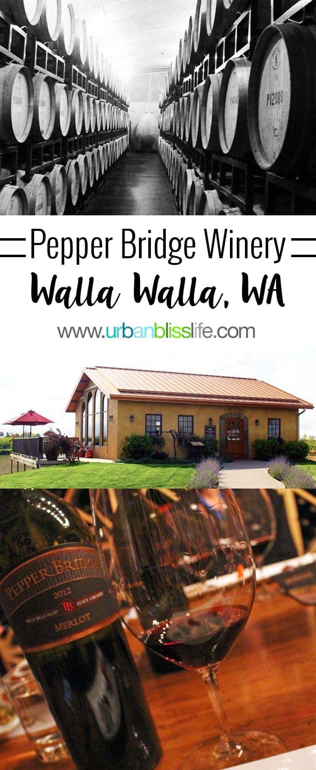 Barrels at Pepper Bridge Winery in Walla Walla, Washington