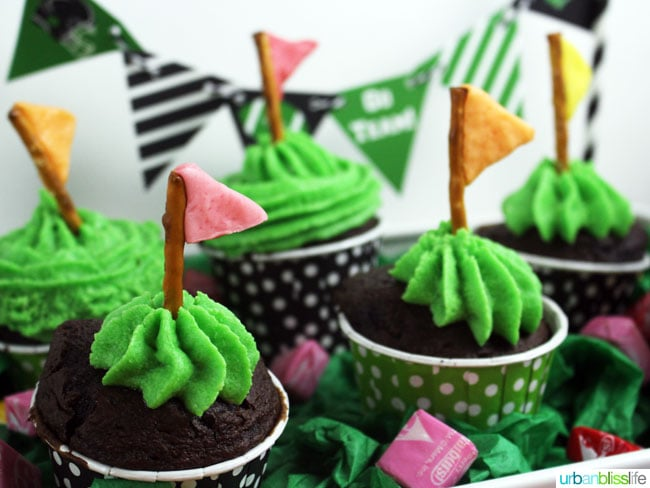 Creative Football Desserts: Starburst Pretzel Flag Game Day idea on UrbanBlissLife.com