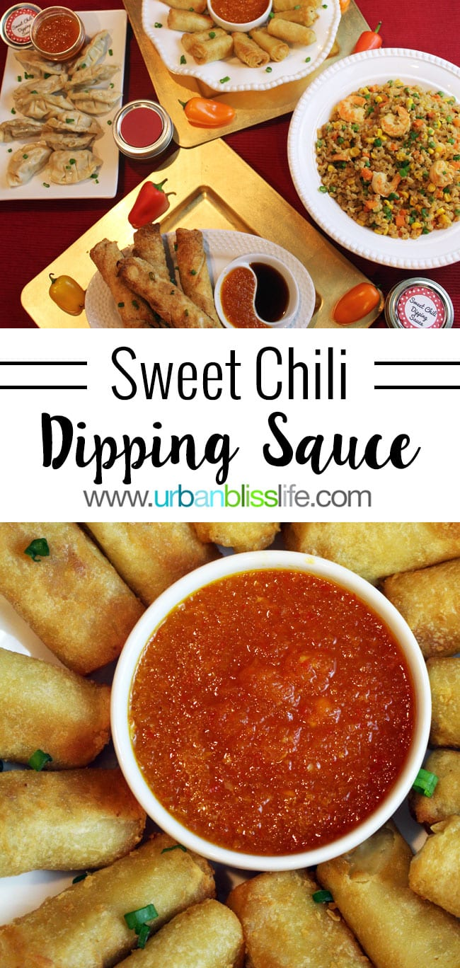 Homemade Sweet Chili Dipping Sauce recipe on UrbanBlissLife.com