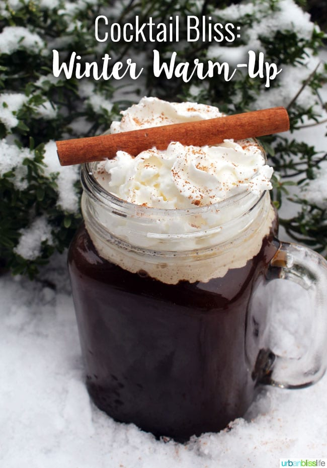 Winter Warm Up Whiskey Coffee Cocktail recipe on UrbanBlissLife.com