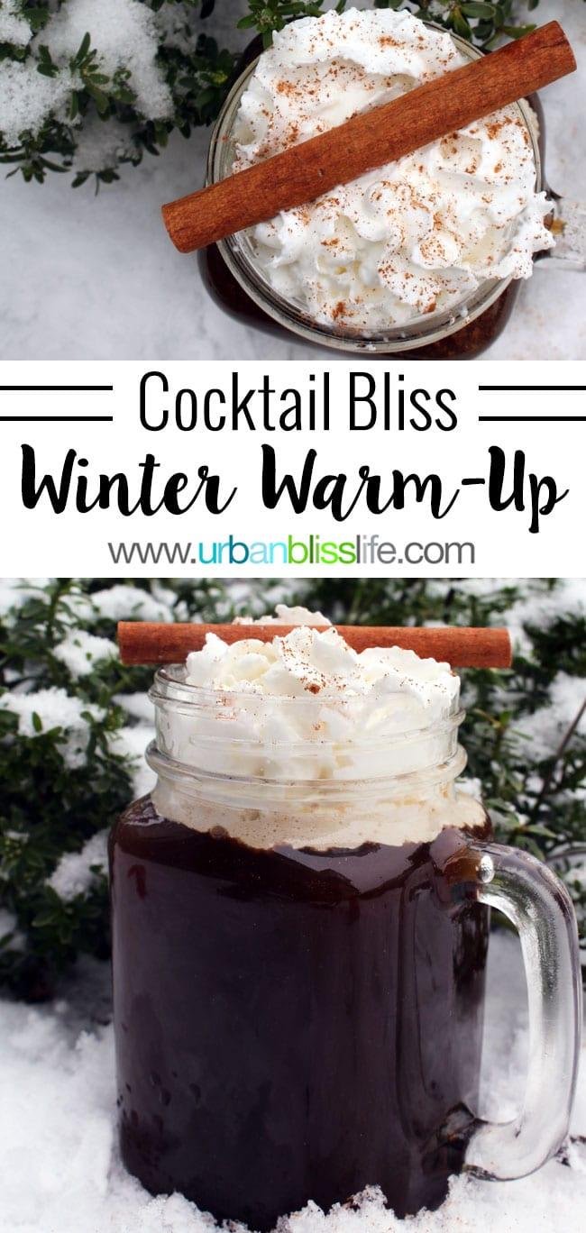 Winter Bourbon Cocktail: Winter Warm Up Cocktail recipe on UrbanBlissLife.com