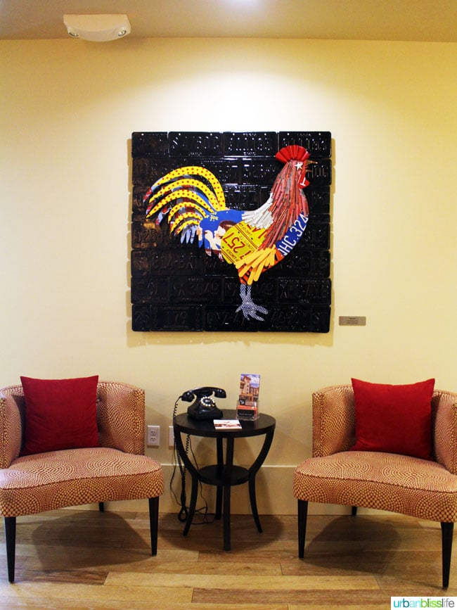art picture of rooster