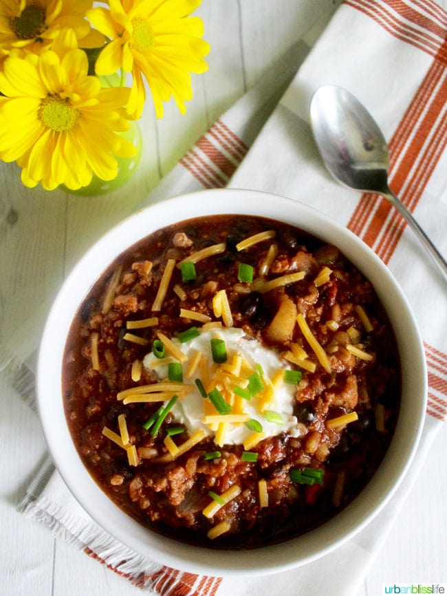 Turkey Chili With Stout and Farro recipe on UrbanBlissLife.com