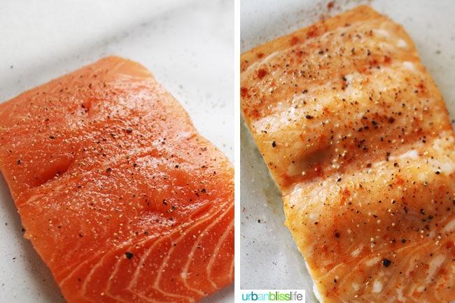Salmon filets