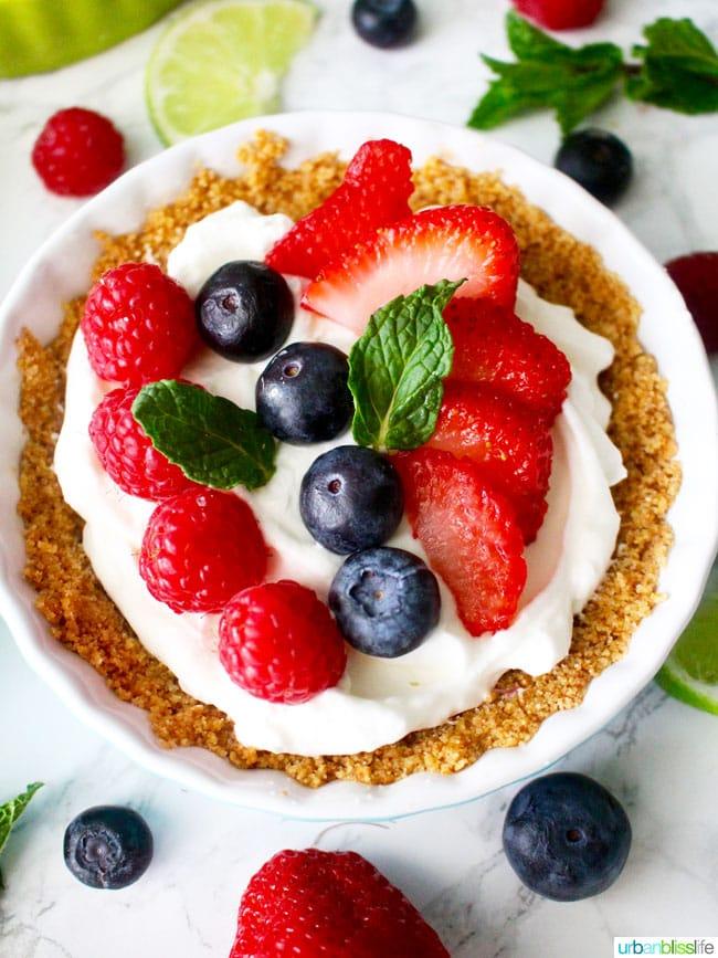 Mini Fruit Tarts recipe on UrbanBlissLife.com