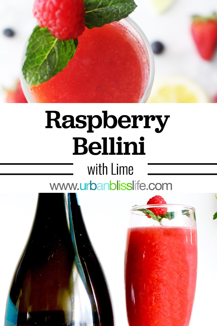 Raspberry Bellini with Lime