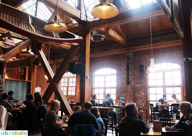 Victoria BC restaurants: Canoe Brewery