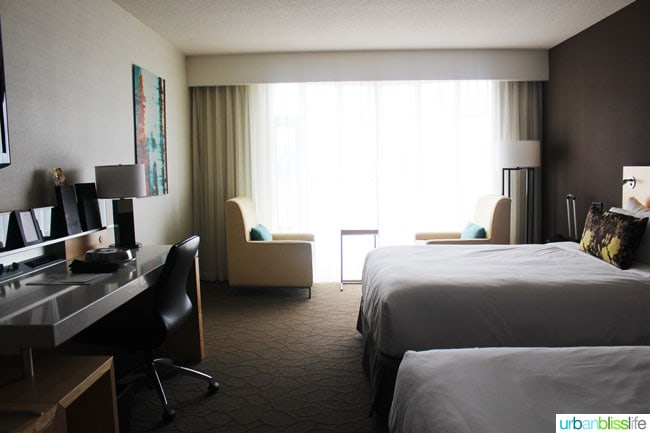 Where to stay in Victoria BC: Delta Victoria Ocean Pointe Resort guest room