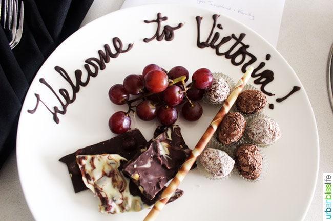 plate of chocolates