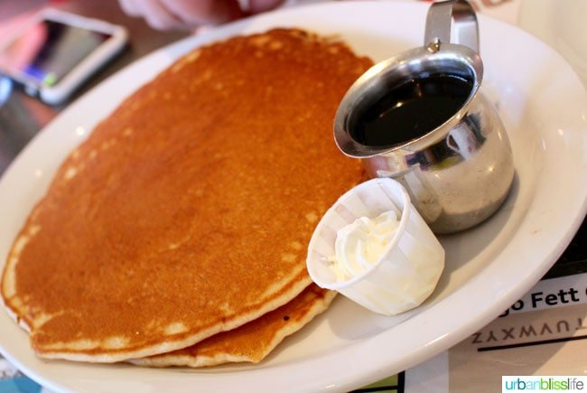 pancakes at Floyd's Diner in victoria bc