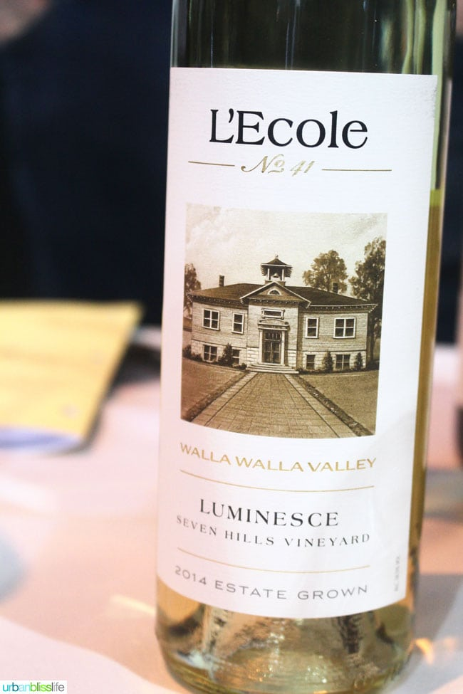 L'Ecole Luminesce white wine