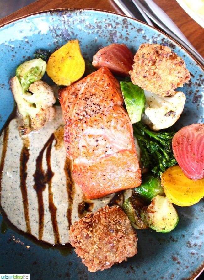 salmon at Lure Restaurant