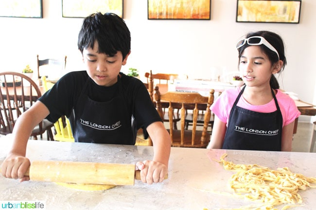 kids rolling out dough